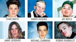 6 Lost Boys of Pickering in 1995